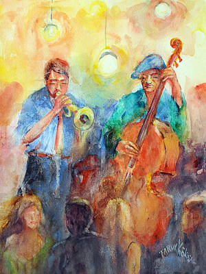 Painting - Trumpet And Contrabass by Faruk Koksal