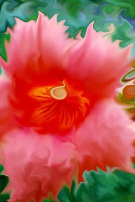 Trumpet Digital Art - Trumpet Flower Abstract by Michelle  BarlondSmith