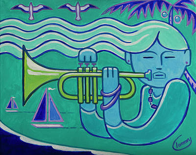 Painting - Trumpet Girl by Tommy Midyette