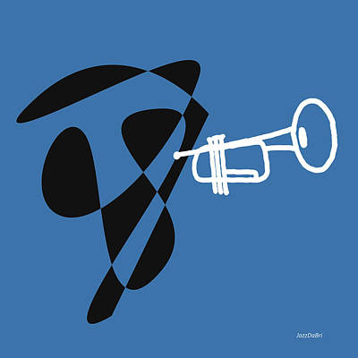 Digital Art - Trumpet In Blue by David Bridburg