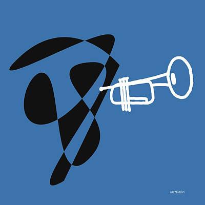 Trumpet Digital Art - Trumpet In Blue by David Bridburg