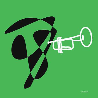 Digital Art - Trumpet In Green by David Bridburg