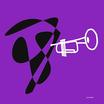 Trumpet Digital Art - Trumpet In Purple by David Bridburg