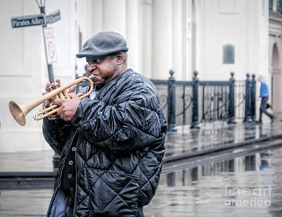 Photograph - Trumpet In The Rain - Nola by Kathleen K Parker