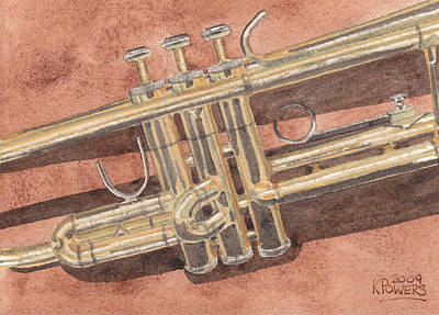 Music Painting - Trumpet by Ken Powers