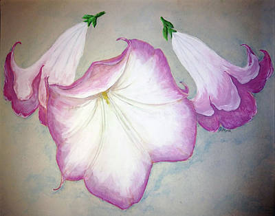 Painting - Trumpet Lilies by Abby Reid