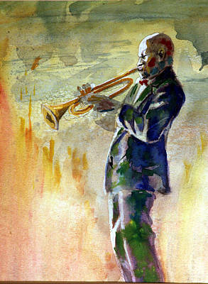Painting - Trumpet Man by Gary Williams