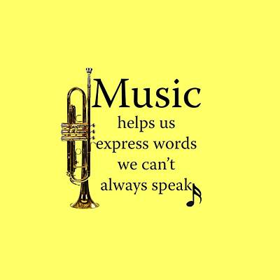 Photograph - Trumpet Music Expresses Words by M K Miller