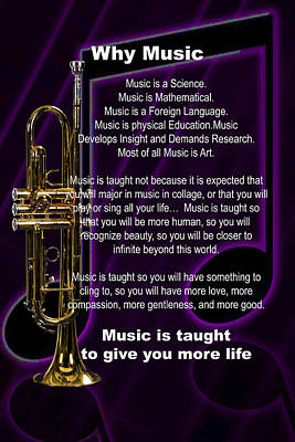 Photograph - Trumpet Photographs Or Pictures Why Music For T-shirts Posters 4821.02 by M K Miller