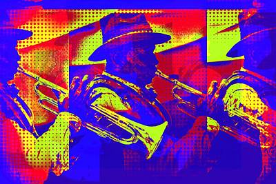 Digital Art - Trumpet Player Pop-art by Tatiana Travelways