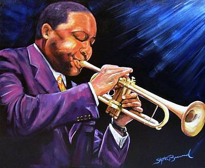 Mardi Gras Painting - Trumpet Player by Stephen Broussard