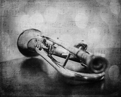 Trumpet Solo Art Print by Emily Kay