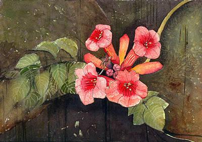 Trumpet Painting - Trumpet Vine II by Katherine Miller