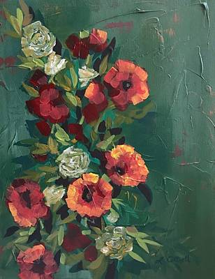 Painting - Trumpet Vine by Laura Cottrell