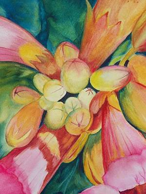 Painting - Trumpet Vine by Marsha Woods