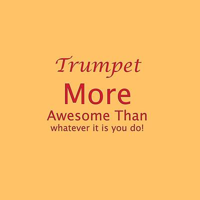 Photograph - Trumpets More Awesome Than You 5556.02 by M K Miller