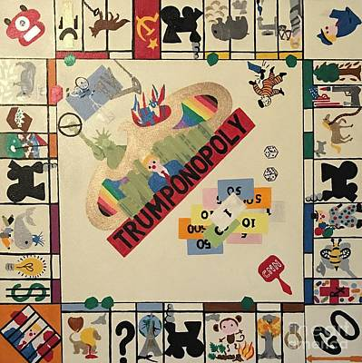 Painting - Trumponopoly  by Erika Chamberlin
