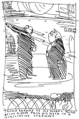 Drawing - Trump's Dream by Barry Blitt