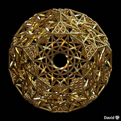 Digital Art - Truncated Hyper Dodecahedron by David Diamondheart