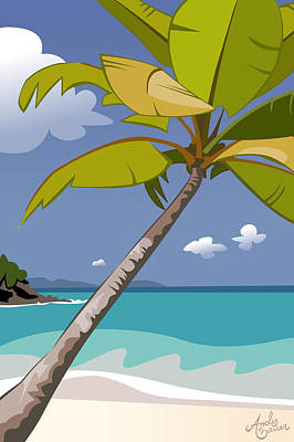 Trunk Bay Art Print by Andy Bauer