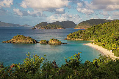 St Thomas Photograph - Trunk Bay Morning by Adam Romanowicz