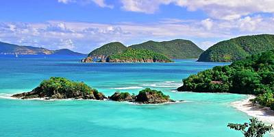Photograph - Trunk Bay Panorama by Frozen in Time Fine Art Photography