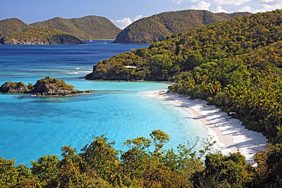 Trunk Bay St John Us Virgin Islands Art Print by George Oze