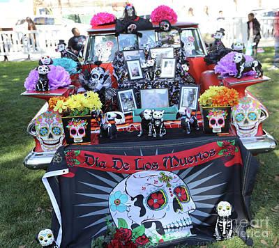 Dia De Los Muertos Photograph - Trunk El Camino Day Dead  by Chuck Kuhn
