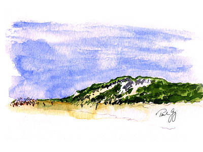 Cape Cod Painting - Truro Beach Cape Cod by Paul Gaj