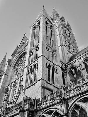 Photograph - Truro Cathedral Monochrome by Richard Brookes