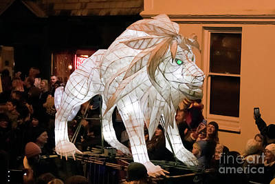 Photograph - Truro Lantern Parade Lion by Terri Waters