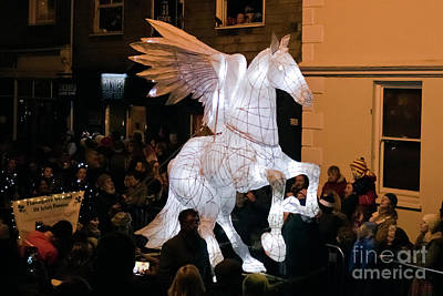 Photograph - Truro Lantern Parade Pegasus by Terri Waters