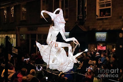Photograph - Truro Lantern Parade Snail Riding by Terri Waters