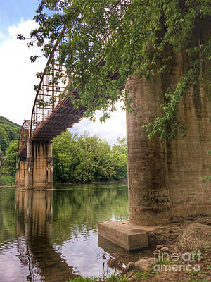 Photograph - Truss Bridge Along New River - Pembroke Virginia by Kerri Farley