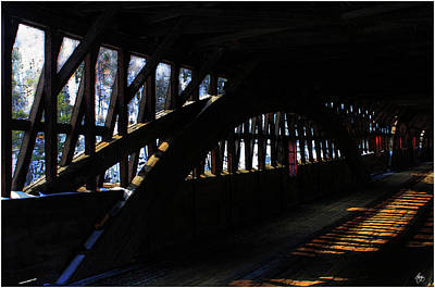 Photograph - Trusses And Light  by Wayne King