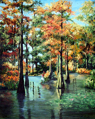 Painting - Trussum Pond by Ronald Lightcap