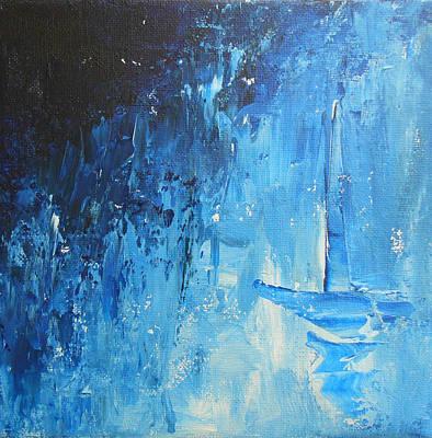 Trust - Blue Heart Original by Jane See