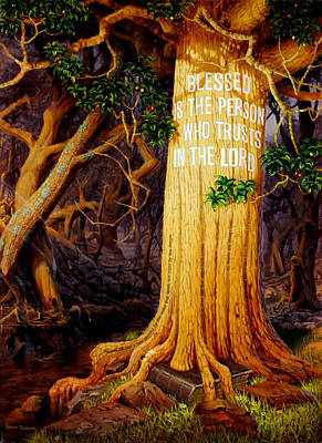 Tree Roots Painting - Trust In The Lord by Graham Braddock
