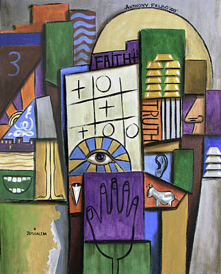 Painting - Trust In The Lord Psalm 115 by Anthony Falbo