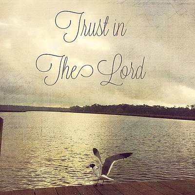 Inspirational Photograph - Trust In The Lord #trust #inspirational by Joan McCool