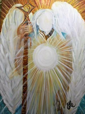 Painting - Trust - Michaelarchangel Series by Yesi Casanova