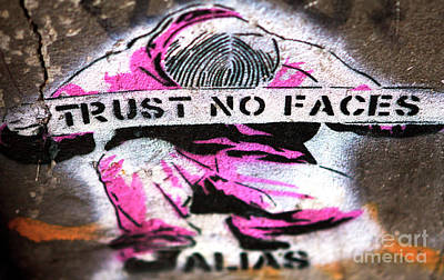Photograph - Trust No Faces by John Rizzuto