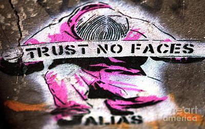 Photograph - Trust No Faces Berlin by John Rizzuto