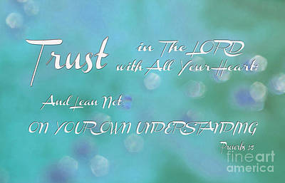 Book Of Life Digital Art - Trust The Lord by Beverly Guilliams