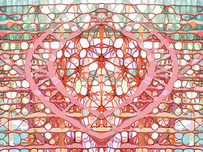 Digital Art - Trust Truss Abstract by Mary Clanahan