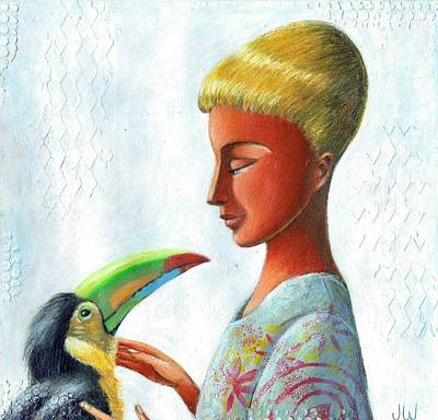 Painting - Trusting Toucan by June Walker