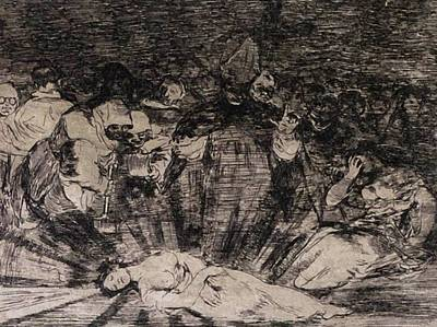 Painting - Truth Has Died 1814 by Goya Francisco