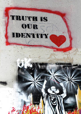 Photograph - Truth Is Our Identity by Munir Alawi