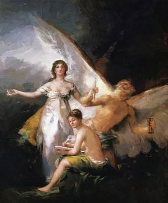 Painting - Truth Rescued By Time Witnessed By History 1814 by Goya Francisco