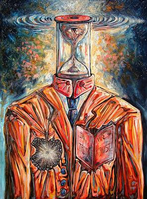 Truth Running Out Of Time Art Print by Darwin Leon